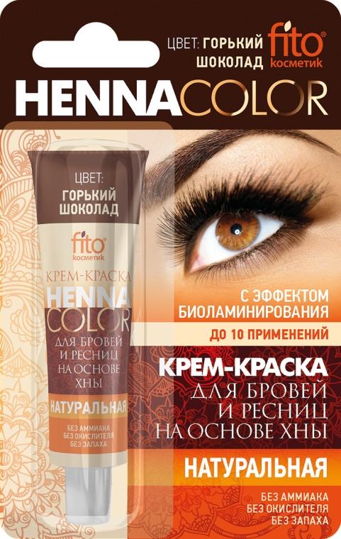 Crema-tinta per le sopracciglia e le ciglia a base di henné - Fito cosmetica Henna Color