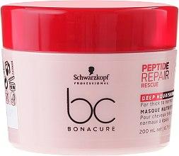 Profumi e cosmetici Maschera rigenerante per capelli danneggiati - Schwarzkopf Professional BC Peptide Repair Rescue Deep Nourishing Mask