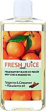 """Profumi e cosmetici Olio per la cura e il massaggio """"Mandarino e Cannella + Olio di Macadamia"""" - Fresh Juice Energy Tangerine&Cinnamon+Macadamia Oil"""