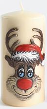 "Profumi e cosmetici Candela decorativa ""Rudolph"", crema, 7x18cm - Artman Christmas Candle Rudolf"