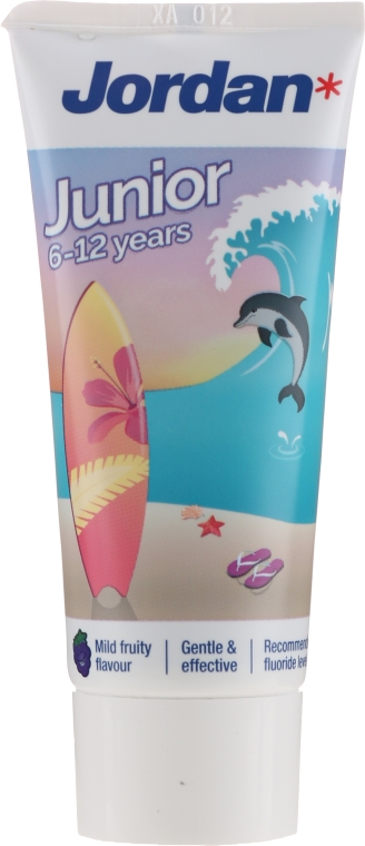 Dentifricio per bambini dai 6 ai 12 anni, delfino - Jordan Junior Toothpaste