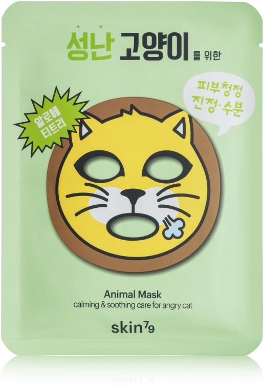 Maschera idratante in tessuto - Skin79 Animal Mask For Angry Cat — foto N1