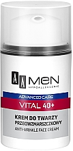 Profumi e cosmetici Crema viso antirughe - AA Men Advanced Care Vital 40+ Face Cream Anti-Wrinkle
