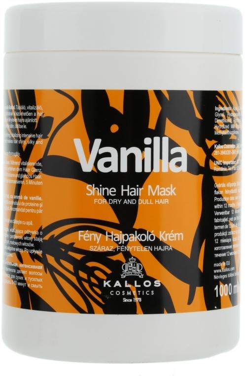 Maschera per capelli secchi - Kallos Cosmetics Vanilla Shine Hair Mask — foto N3