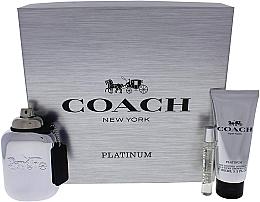 Profumi e cosmetici Coach Platinum - Set (edp/100ml + edp/7.5ml + s/g/100ml)
