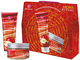 "Profumi e cosmetici Set ""Mela e Cannella"" - Dermacol Aroma Ritual Apple with Cinnamon (sh/gel/250ml + b/scrb/200ml)"