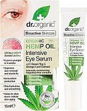 """Profumi e cosmetici Siero occhi intensivo """"Olio di canapa"""" - Dr. Organic Bioactive Skincare Hemp Oil Intensive Eye Serum"""
