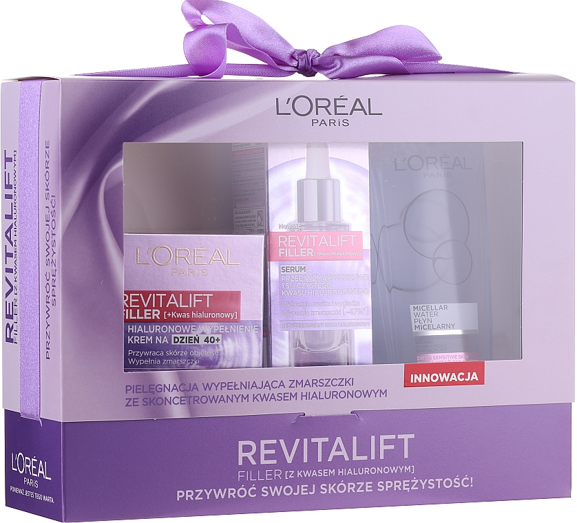 Set - Loreal Revitalift Filler (d/cr/50ml + serum/30ml + micellar/200ml)