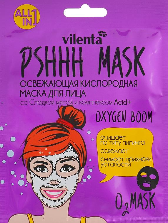 Maschera viso rinfrescante all'ossigeno con menta dolce e complesso Acid + - Vilenta Pshhh Mask — foto N1