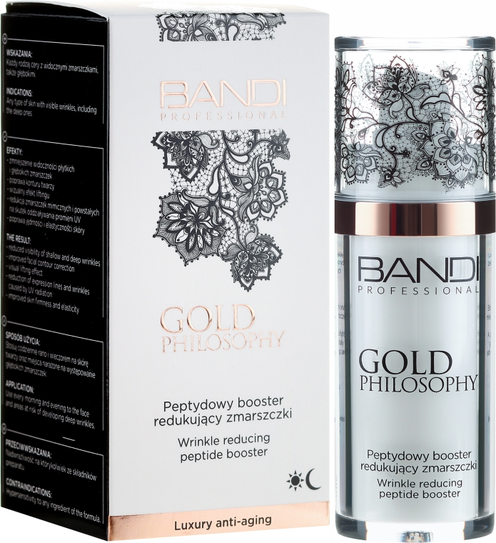 Booster peptidi antirughe - Bandi Professional Gold Philosophy Wrinkle Reducing Peptide Booster
