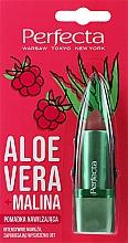 """Profumi e cosmetici Balsamo labbr """"Aloe Vera e Lampone"""" - Perfecta Aloe Vera + Raspberry"""