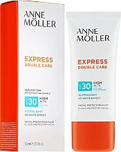 Profumi e cosmetici Crema-fluido protezione solare - Anne Moller Double Care Ultralight Facial Protection Fluid SPF30