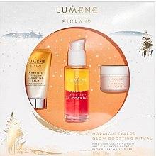 Profumi e cosmetici Set - Lumene Valo Glow Boosting Ritual (face/balm/15ml+coctail/30ml+cr/15ml)