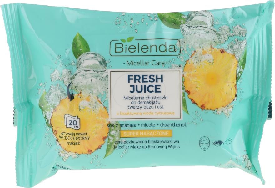 "Salviettine struccante ""Ananas"" - Bielenda Fresh Juice Micelar Care Make-up Removing Wipes"