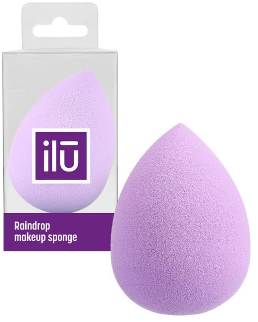 Spugna trucco, goccia, viola - Ilu Sponge Raindrop Purple