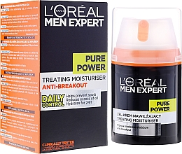 Profumi e cosmetici Gel-crema viso anti-imperfezioni della pelle - L'Oreal Paris Men Expert Pure Power
