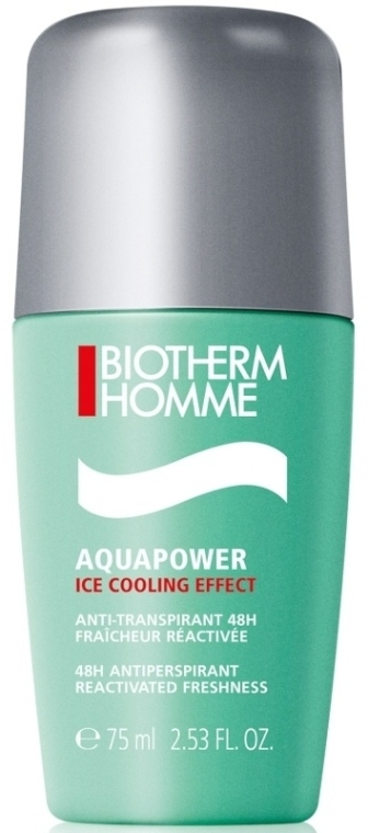Deodorante roll-on per uomini - Biotherm Homme Aquapower Ice Cooling Effect 48H Antiperspirant Deo