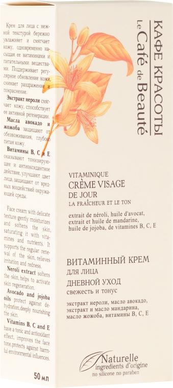 """Crema vitaminica da giorno """"Freschezza e tono"""" - Le Cafe de Beaute Vitamin Cream Visage — foto N1"""