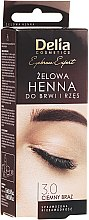 Profumi e cosmetici Gel-tinta per sopracciglia, marrone-scuro - Delia Eyebrow Tint Gel ProColor 3.0 Dark Brown