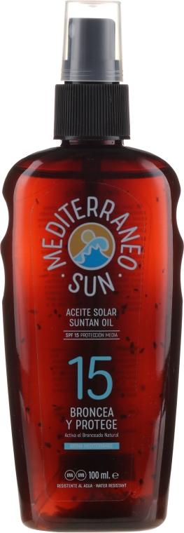 Olio solare - Mediterraneo Sun Coconut Suntan Oil Dark Tanning SPF15 — foto N1