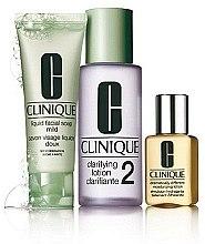 Profumi e cosmetici Set - Clinique 3-Step System Type II (soap/50ml + lot/100ml + lot/30ml)