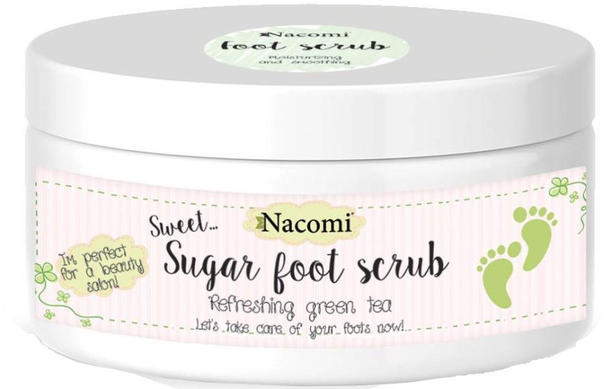 Scrub piedi allo zucchero, con estratto di tè verde - Nacomi Sugar Foot Scrub