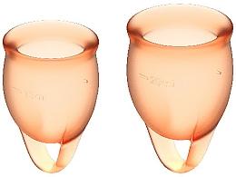 Profumi e cosmetici Coppetta mestruale, arancione - Satisfyer Feel Confident Menstrual Cups Orange