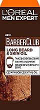 Profumi e cosmetici Olio per barba e viso - L'Oreal Paris Men Expert Barber Club Long Beard + Skin Oil