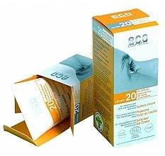 Profumi e cosmetici Crema solare SPF 20 con estratto di melograno e olivello spinoso - Eco Cosmetics Suntan Cream SPF 20