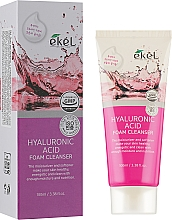 Profumi e cosmetici Schiuma detergente all'acido ialuronico - Ekel Hyaluronic Acid Foam Cleanser