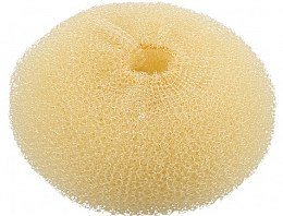 Profumi e cosmetici Ciambella per capelli, beige, 110 mm - Lussoni Hair Bun Ring Yellow