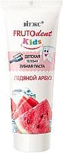 """Profumi e cosmetici Dentifricio-gel per bambini senza fluoro """"Anguria ghiacciata"""" - Vitex Frutodent Kids"""
