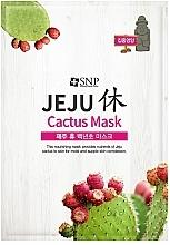 Profumi e cosmetici Maschera nutriente e rilassante al cactus, in tessuto - SNP Jeju Rest Cactus Mask