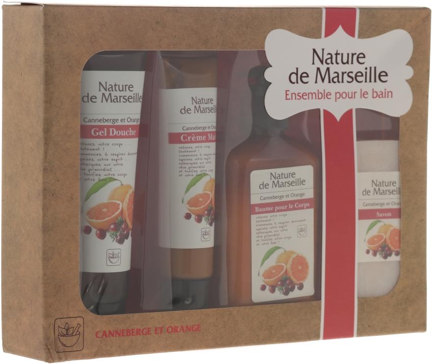 "Set ""Arancia e mirtilli rossi"" - Nature de Marseille (lot/150ml + sh/gel/100ml + h/cr/60ml + soap/90g)"