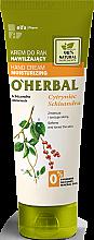 Profumi e cosmetici Crema mani idratante con estratto di citronella - O'Herbal Moisturizing Hand Cream With Schisandra Extract