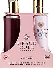 Profumi e cosmetici Set - Grace Cole Warm Vanilla & Sandalwood (sh/gel/300ml + b/lot/300ml)
