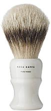 Profumi e cosmetici Pennello da barba - Acca Kappa Shaving Brush Pure Silver Badger
