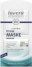 Profumi e cosmetici Maschera viso nutriente intensiva - Lavera Neutral Nourishing Intensive Mask
