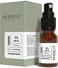 """Profumi e cosmetici Olio-spray per la bocca """"Oliva"""" 5% - Herbliz CBD Olive Fresh Oil Mouth Spray 5%"""