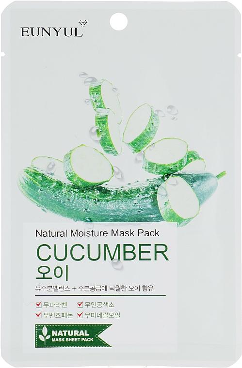 Maschera in tessuto all'estratto di cetriolo - Eunyul Natural Moisture Mask Pack