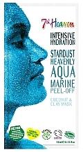 Profumi e cosmetici Maschera blu per viso - 7th Heaven Stardust Heavenly Aqua Marine Peel-Off Coconut & Clay Mask