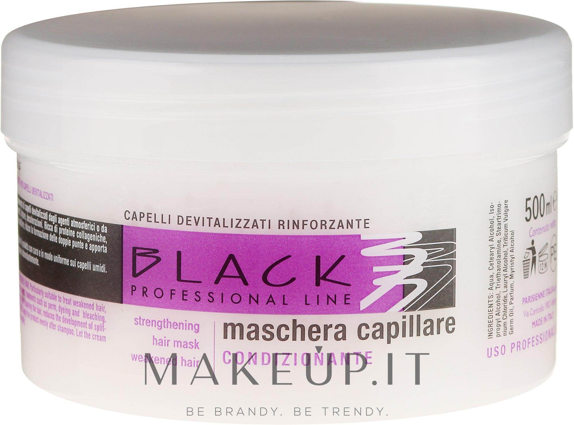 Maschera-balsamo rinforzante per capelli secchi e deboli - Black Professional Line Strengthening Hair Mask — foto 500 ml
