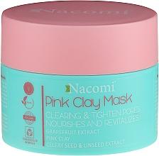 Profumi e cosmetici Maschera con argilla rosa - Nacomi Pink Clay Mask
