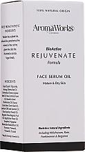 Profumi e cosmetici Siero viso ringiovanente - AromaWorks Rejuvenate Face Serum Oil