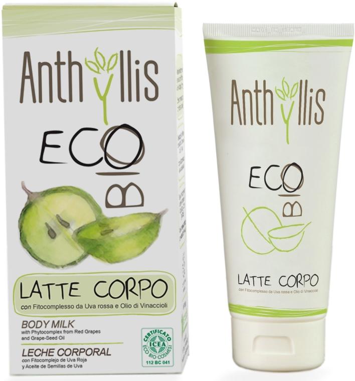 Latte corpo con fitocomplesso d'uva rossa e olio di vinaccioli - Anthyllis Body Milk