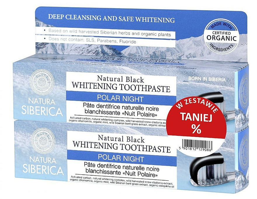 Set - Natura Siberica Polar Night (toothpaste/2*100g)
