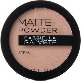 Cipria opacizzante - Gabriella Salvete Matte Powder SPF15 — foto 01 Ivory