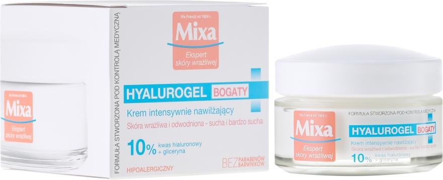 Crema idratante viso - Mixa Hyalurogel Moisturizing Face Cream