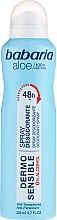 Profumi e cosmetici Deodorante - Babaria Aloe Vera Dermo Sensible Deo Spray