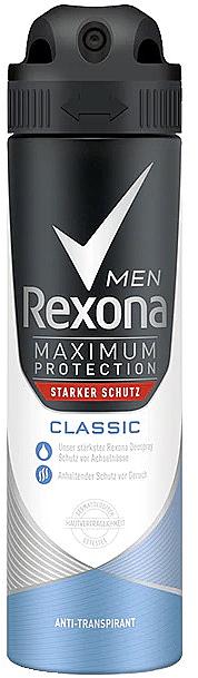 Deodorante per uomo - Rexona Maximum Protection Classic Men Deospray